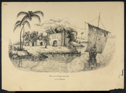 'Ruins of a Mosque at Lota near the Megna'. Worked up from an earlier sketch of January 1834